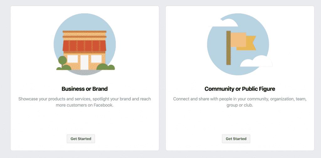 קשר את העסק שלך, את עצמך או את גורםך לקהילה העולמית של אנשים בפייסבוק. כדי להתחיל, בחר קטגוריית עמוד.